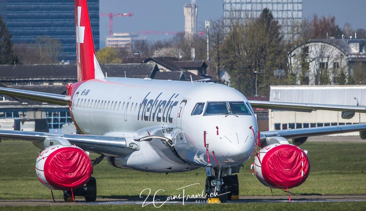 Helvetic Embraer 190 Dübendorf