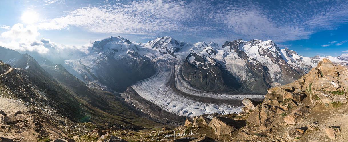 Monte Rosa Massiv Panorama