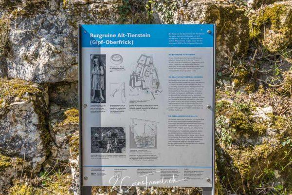 Informationstafel Burg Alt Tierstein