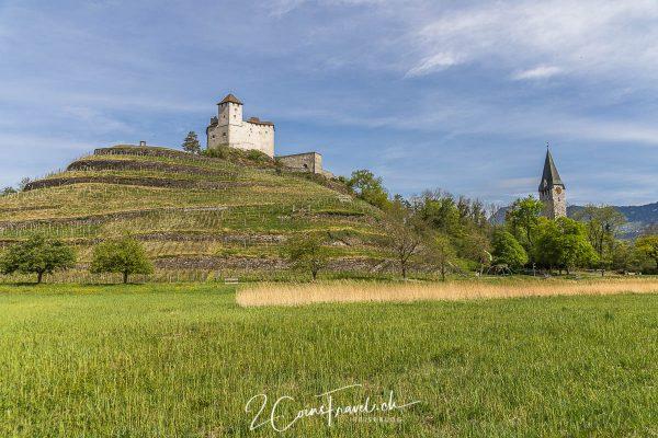 Burg Gutenberg und Burghügel