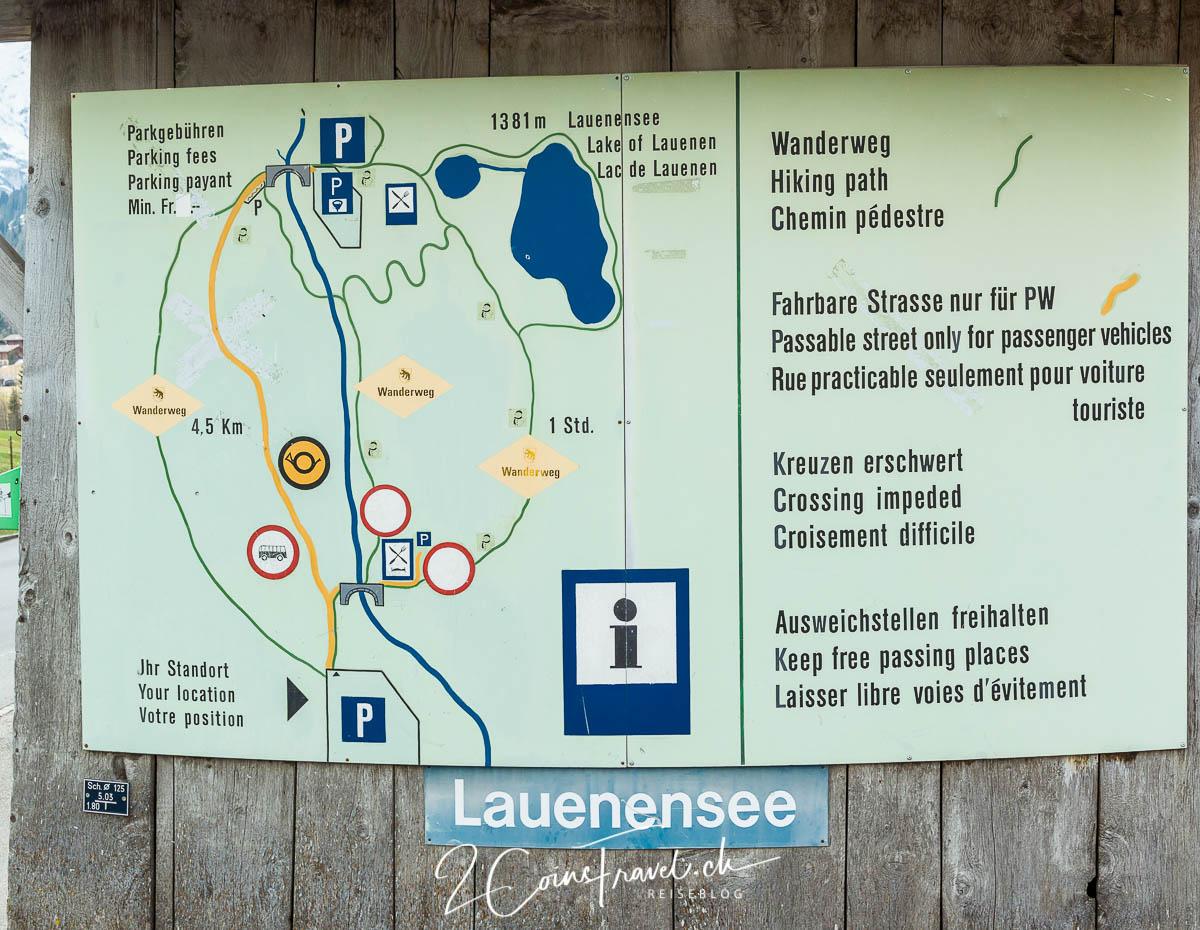 Wanderschild Lauenensee