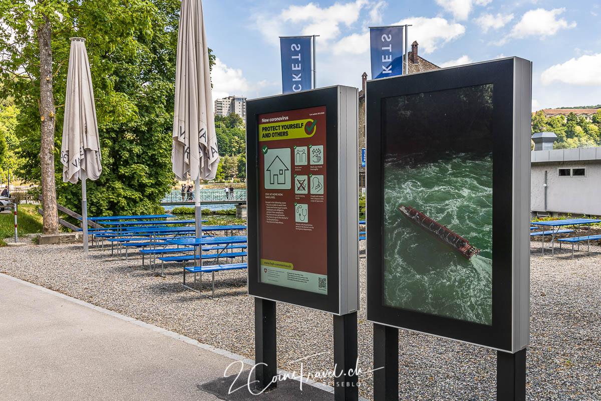 Infoschild Rheinfall
