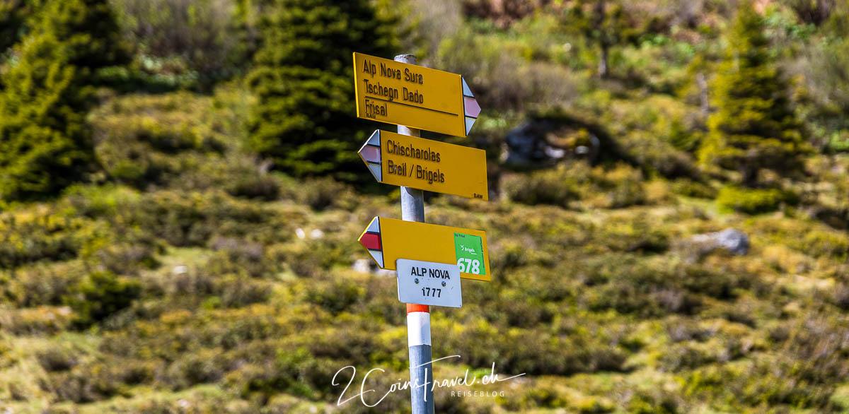 Wegweiser Alp Nova