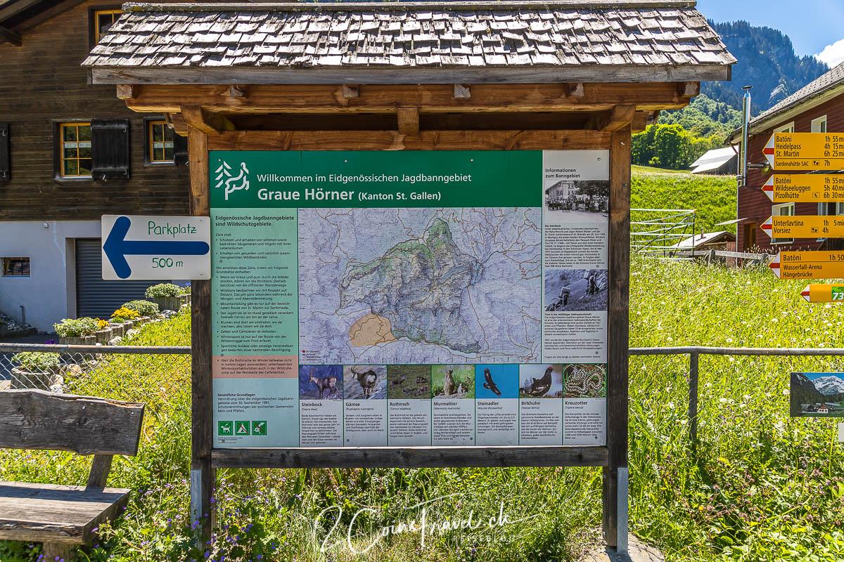Informationstafel Weisstannental