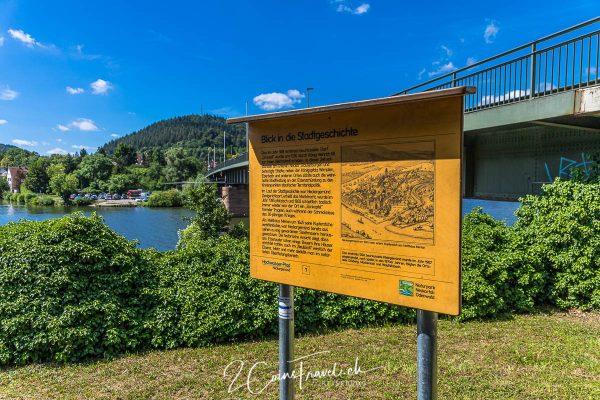 Hochwasser Pfad Neckargemünd