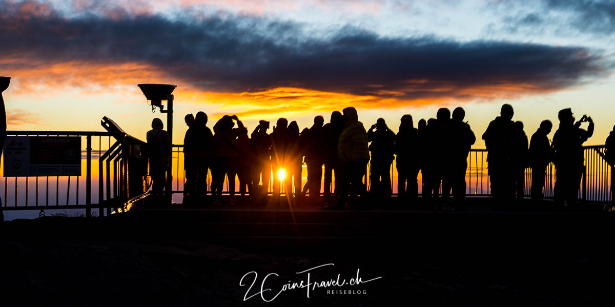 Menschen Sonnenaufgang Säntis