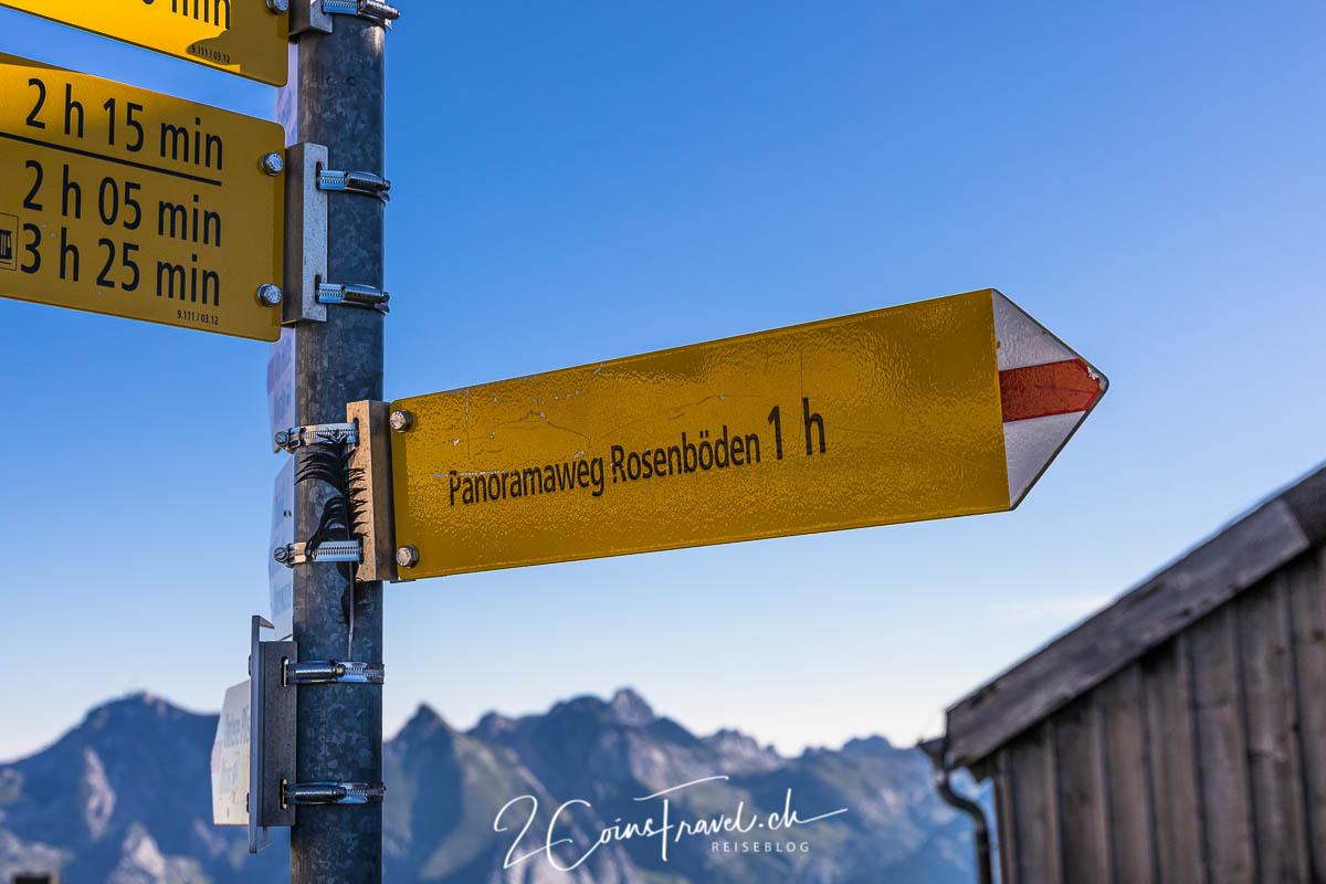 Wegweiser Panoramaweg