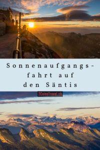 Pinterest Sonnenaufgangsfahrten Säntis
