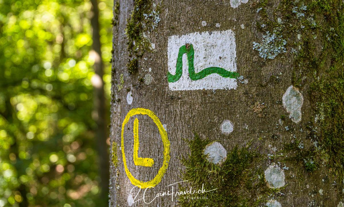 Wanderweg Markierungen