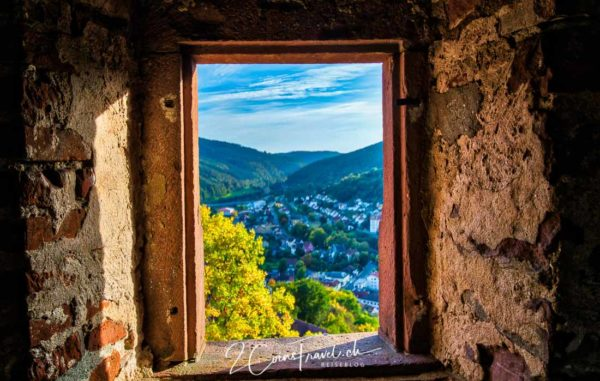 Ausblick Turm der Burg Hirschhorn