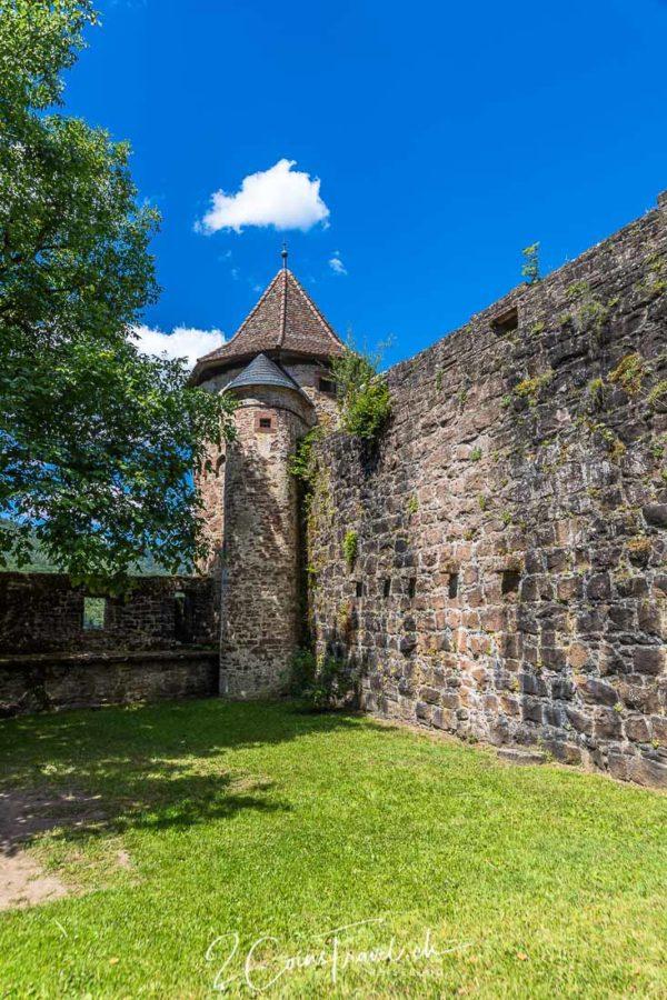 Wehrmauer Burg Hirschhorn