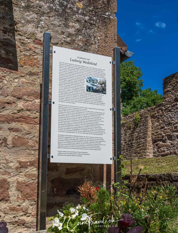 Informationstafel Burg Hirschhorn