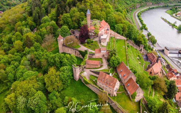 Luftbild Burg Hirschhorn