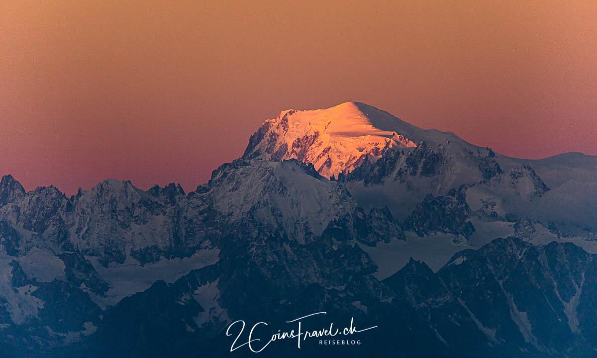 Mont Blanc beim Sonnenaufgang