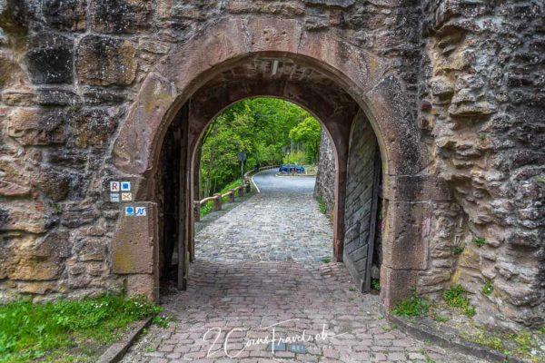 Eingang Burg Hirschhorn