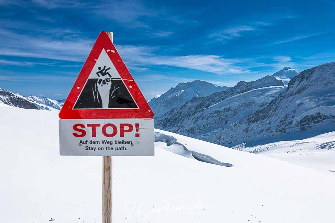 Warnschild Jungfraufirn