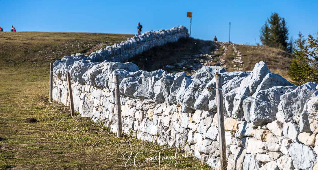 Trockensteinmauer Creux du Van