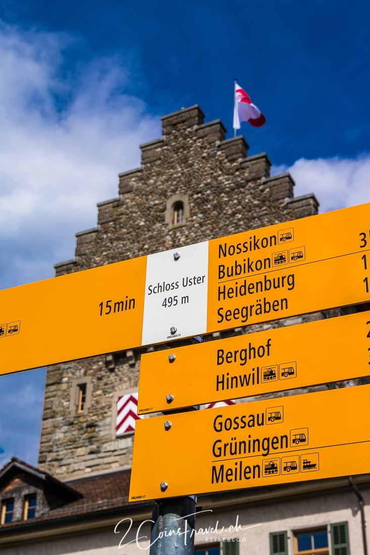 Blick auf Schloss Uster