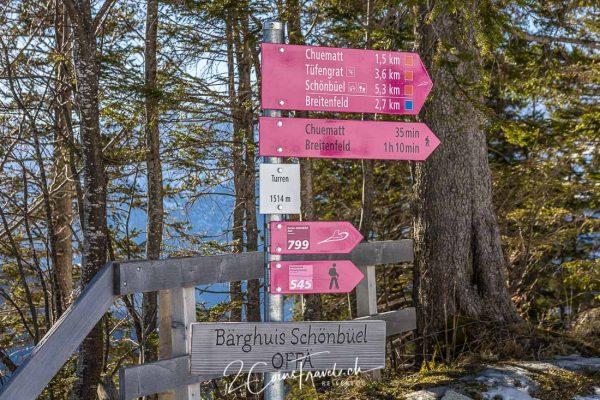 Wanderwege Turren