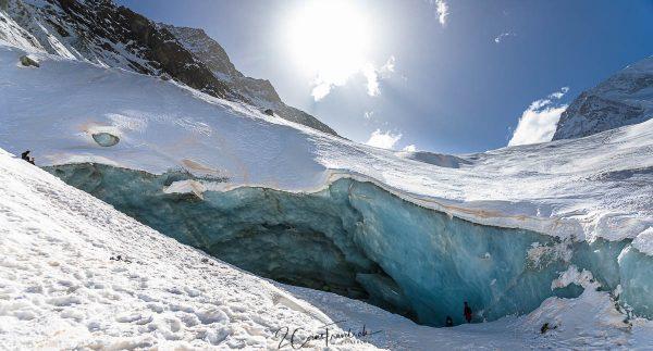 Eishöhle Zinalgletscher