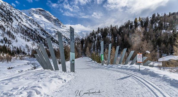 Eingang Gletscherweg Morteratsch