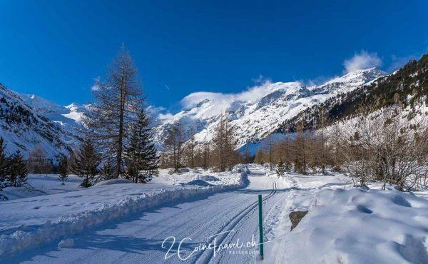 Gletscherpfad und Berninamassiv