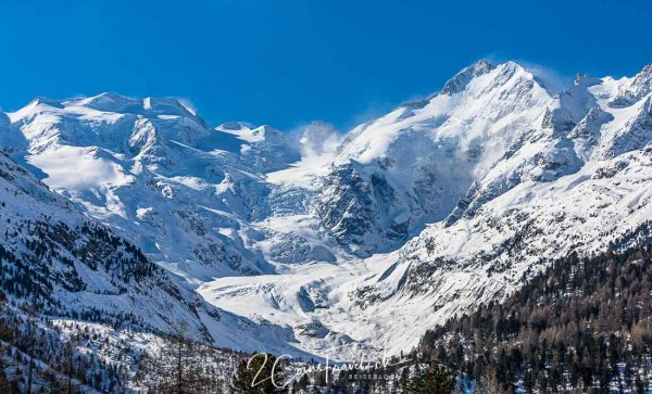 Piz Bernina und Morteratschgletscher