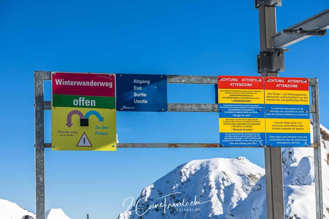 Winterwanderweg Hockenhorngrat