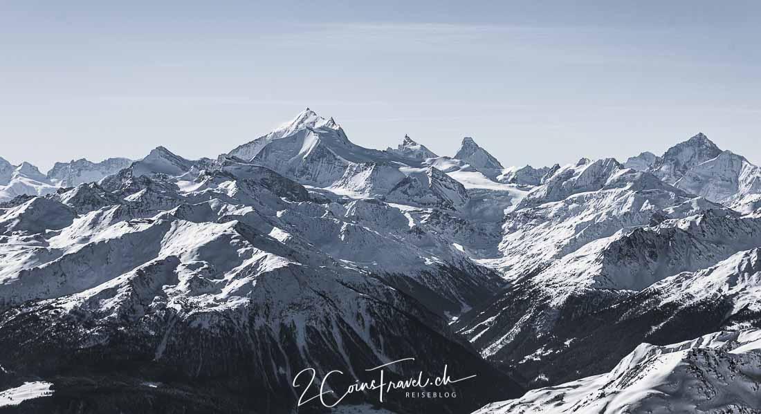 Weisshorn und Matterhorn