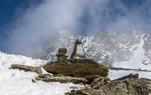 Steinsäule Gipfelweg