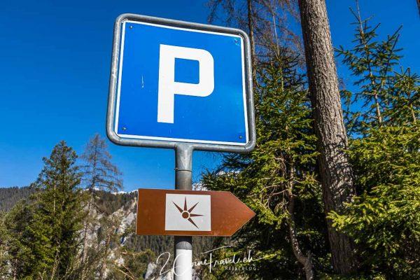 Parkplatz Versam