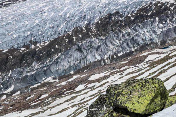 Details des Aletschgletscher