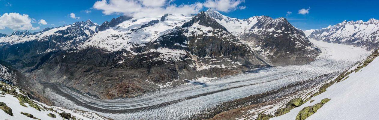 Panoramablick Aletschgletscher
