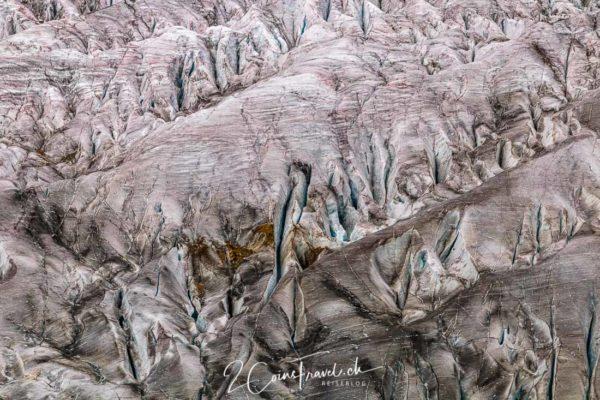 Gletscherspalten Aletschgletscher