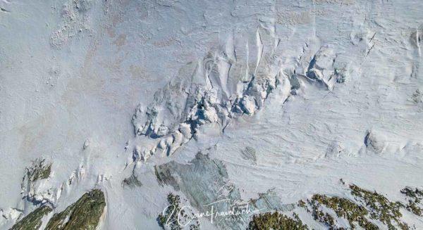Spalten auf Klein Matterhorngletscher