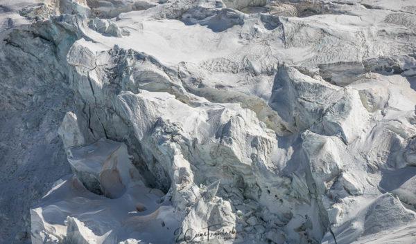 Gletscherspalten auf dem Kleinen Matterhorngletscher