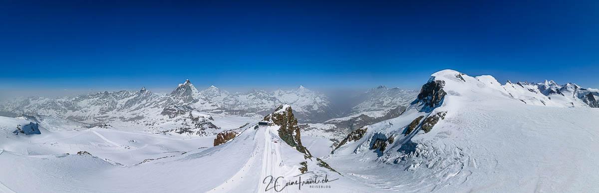 Panoramaaufnahme Klein Matterhorn