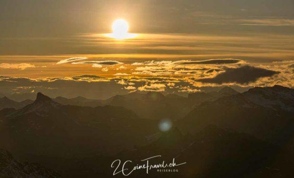 Sonnenaufgang vom Mont Fort