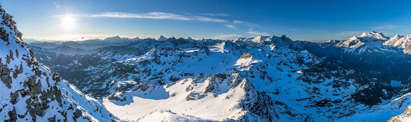 Bergpanorama Mont Fort