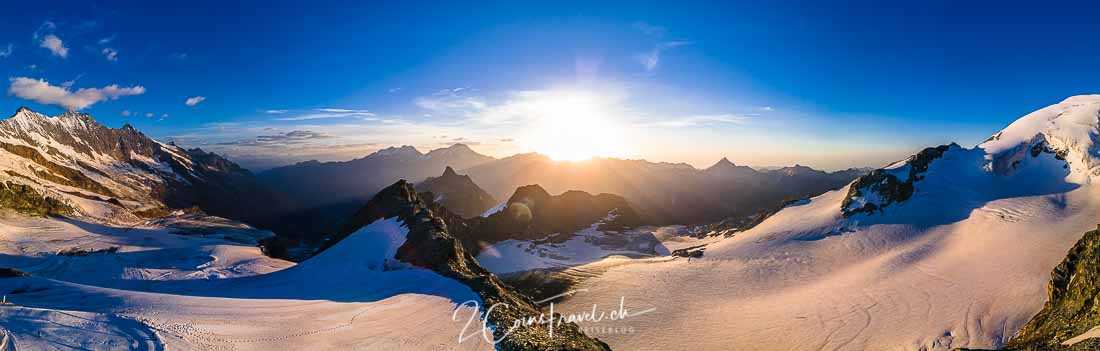 Sonnenaufgang Mittelallalin