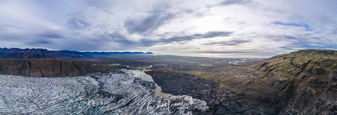 Panorama Skálafelljökull Gletscher