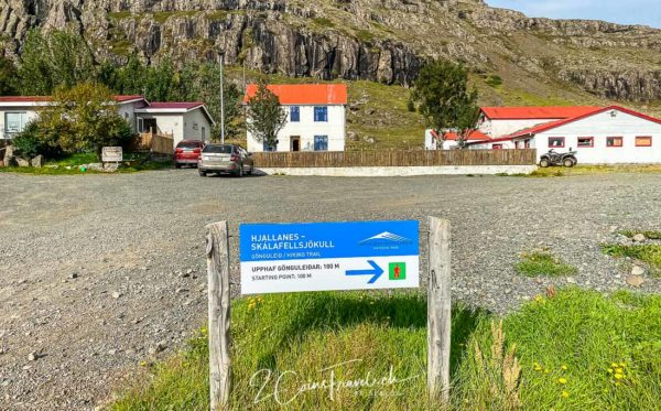 Wanderweg zum Skálafelljökull