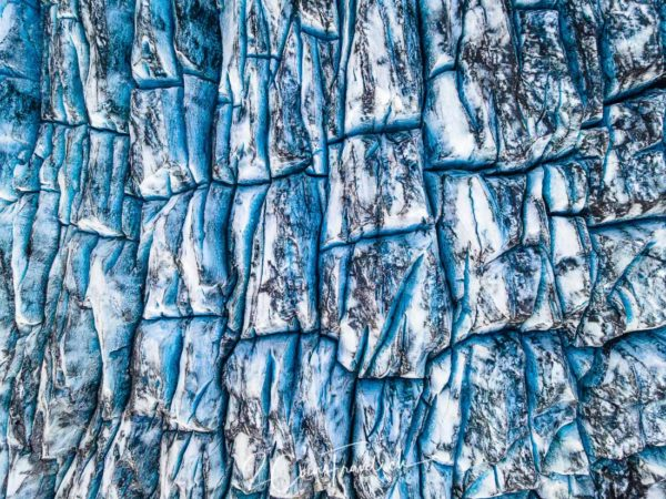Gletscherspalten Skálafelljökul