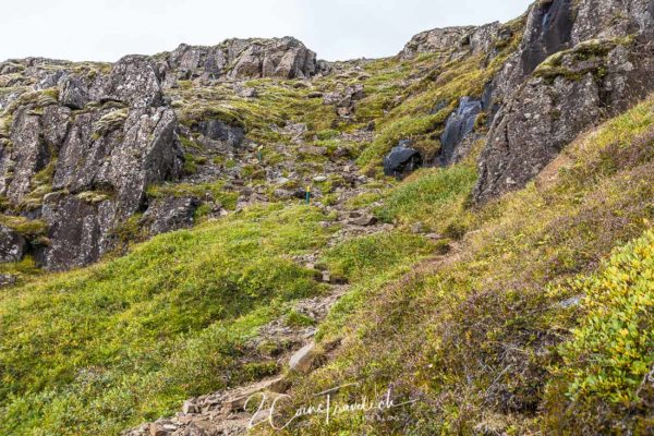 Pfad nach Hjallanes Höhe