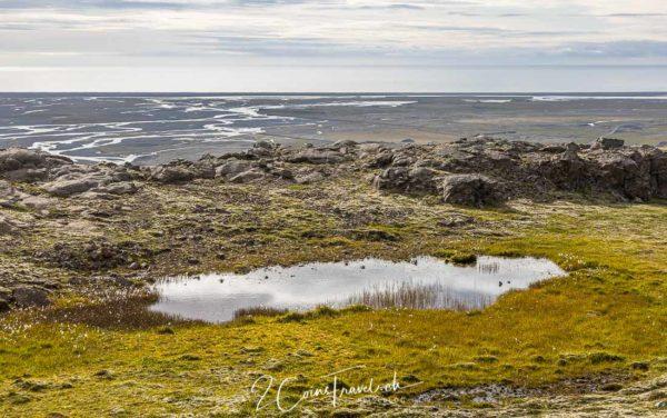 Blick auf das Meer und Ringstrasse