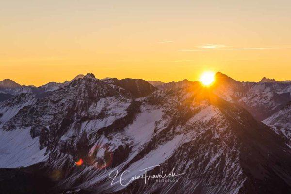Sonnenaufgangsfahrt Weisshorn Arosa